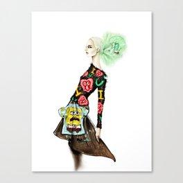 Spongebob's Eyelash Sweater Canvas Print