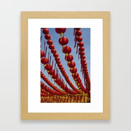 Red Chinese Lanterns at Thean Hou Temple, KL Framed Art Print