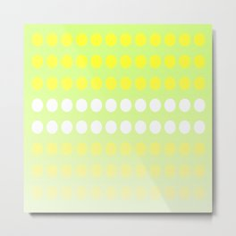Dots in a Row in Shades of Yellow and Green Metal Print