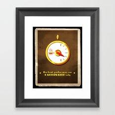 The Coffee Meter Framed Art Print