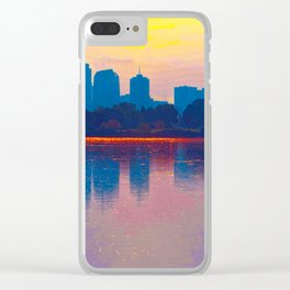 Come Sit With Me At Sloan Lake Downton Denver Coloado Clear iPhone Case