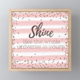 Shine Framed Mini Art Print