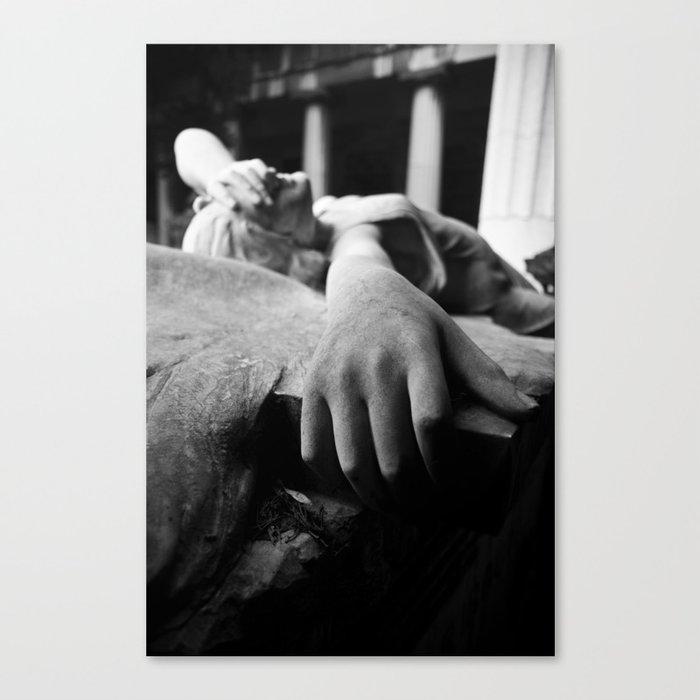 The sorrow Canvas Print