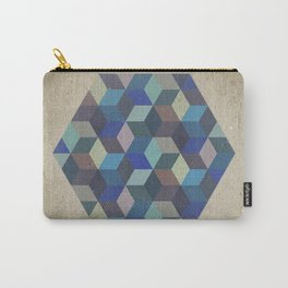 Dimension in blue Carry-All Pouch