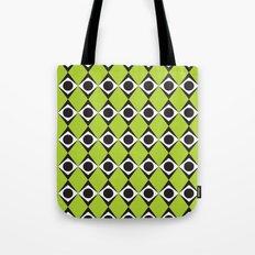 Lime circles & diamond pattern Tote Bag