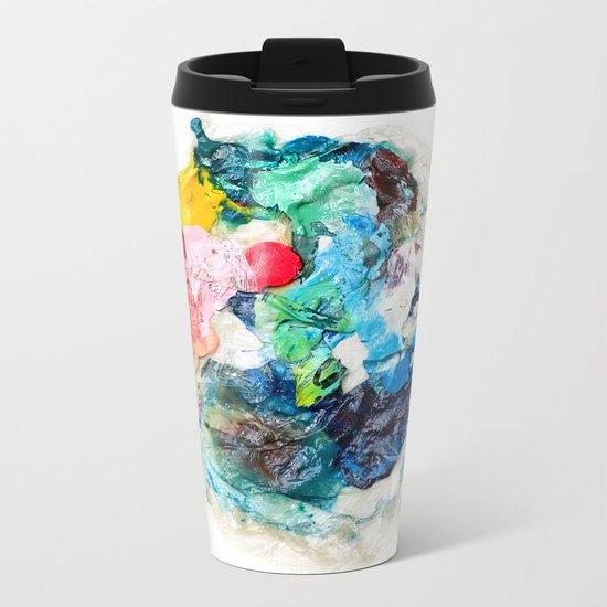 Rainbow Earth Paint Moon Love Metal Travel Mug