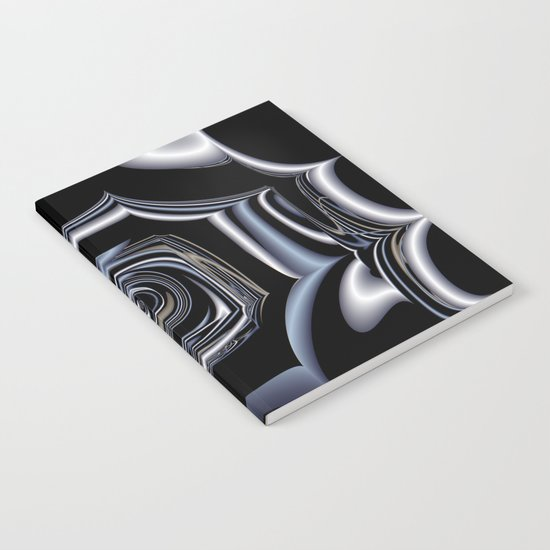 TGS Fractal Abstract in Winter Notebook