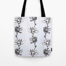 Magnolia in black and white Tote Bag