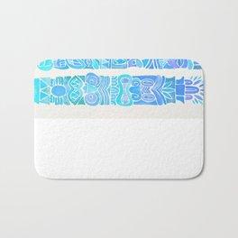 Tiki Totems – Turquoise Palette Bath Mat
