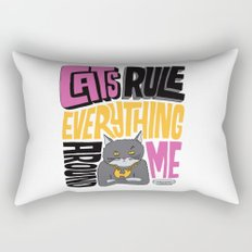 C.R.E.A.M. Cats Rule Everything Around Me Rectangular Pillow