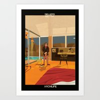 babina Art Prints featuring Sellers Neutra by federico babina