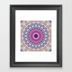 Colorful Ornate Mandala Framed Art Print