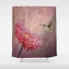A Hummingbirds Dance Shower Curtain