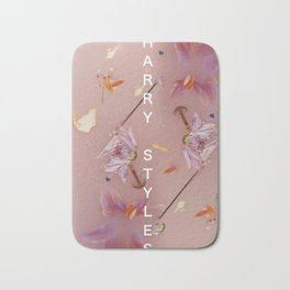 Harry Styles Album Artwork Floral with name Bath Mat