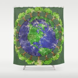 Lungs of the Earth Shower Curtain