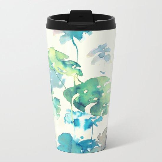 Tropical Leaves Collab. Dylan Silva Metal Travel Mug