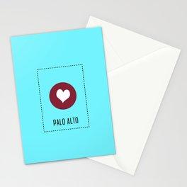 I Love Palo Alto Stationery Cards