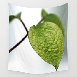Raindrop Leaves Wall Tapestry
