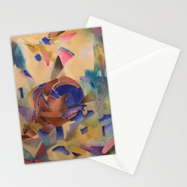 The world blooms in neon skies Stationery Cards