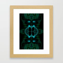 Dark Forest Lotus Fractal Art Print Framed Art Print