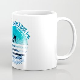 Caribbean Cruisin Blue Surfing Design Coffee Mug