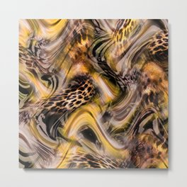 Luxury Animal Print Metal Print