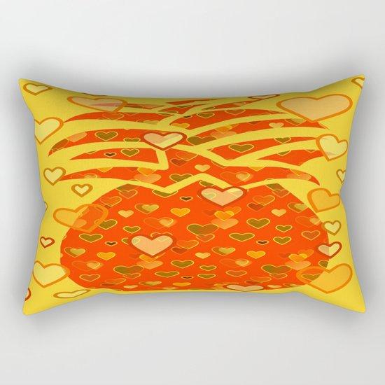 I Love Pineapple Rectangular Pillow