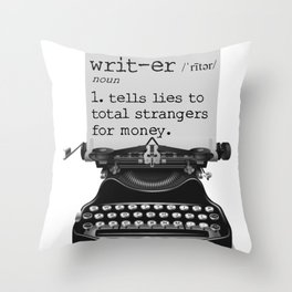 Writer Defined Throw Pillow