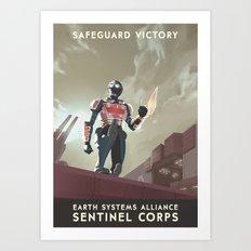 Mass Effect 3- Sentinel Propaganda Art Print