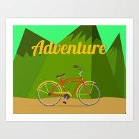 Bicycle Adventure Art Print