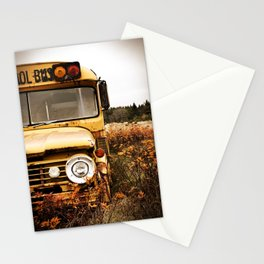 School Bus Neglect Stationery Cards
