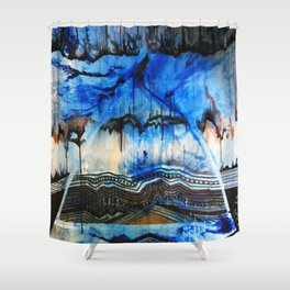 Blue Note Fire Shower Curtain