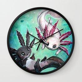 a little axolotl Wall Clock