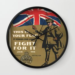 Vintage poster - This is Your Flag Wall Clock