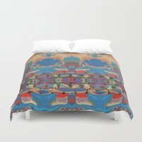 oasis Duvet Covers featuring Oasis by Jim Pavelle