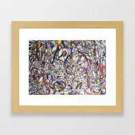 Chromatic Collisions Framed Art Print