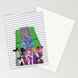 No Vacancy - Haunted Mansion Meets Bats Day Stationery Cards