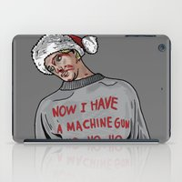 die hard iPad Cases featuring Tony (The Dead Guy In The Elevator In Die Hard) by CRUDE
