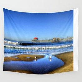 High Tide Shorebreak * H.B. Pier Wall Tapestry