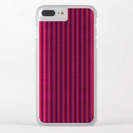 """Rose & Violet Burlap Vertical Lines"" Clear iPhone Case"