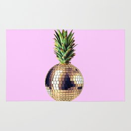 Ananas party (pineapple) Pink version Rug
