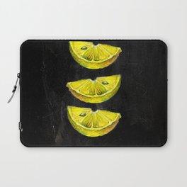 Lemon Slices Black Laptop Sleeve