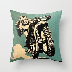 Motorcycle Race Throw Pillow