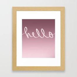 Hello Caligraphy Framed Art Print