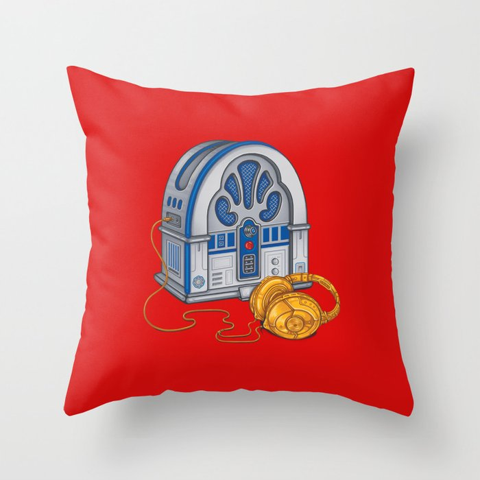 Beats by Droid - Recycled Future Throw Pillow