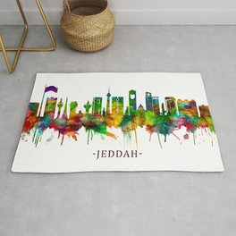 Jeddah Saudi Arabia Skyline Rug