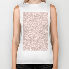 Modern abstract blush chic faux rose gold white glitter Biker Tank