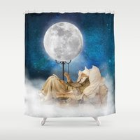 sandman Shower Curtains featuring Good Night Moon by Diogo Verissimo