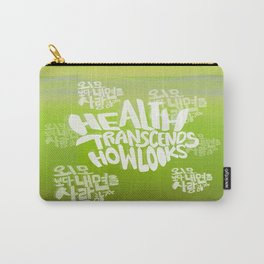 Health Transcends – Lime Carry-All Pouch
