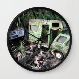 Rusty Toy Trucks Wall Clock